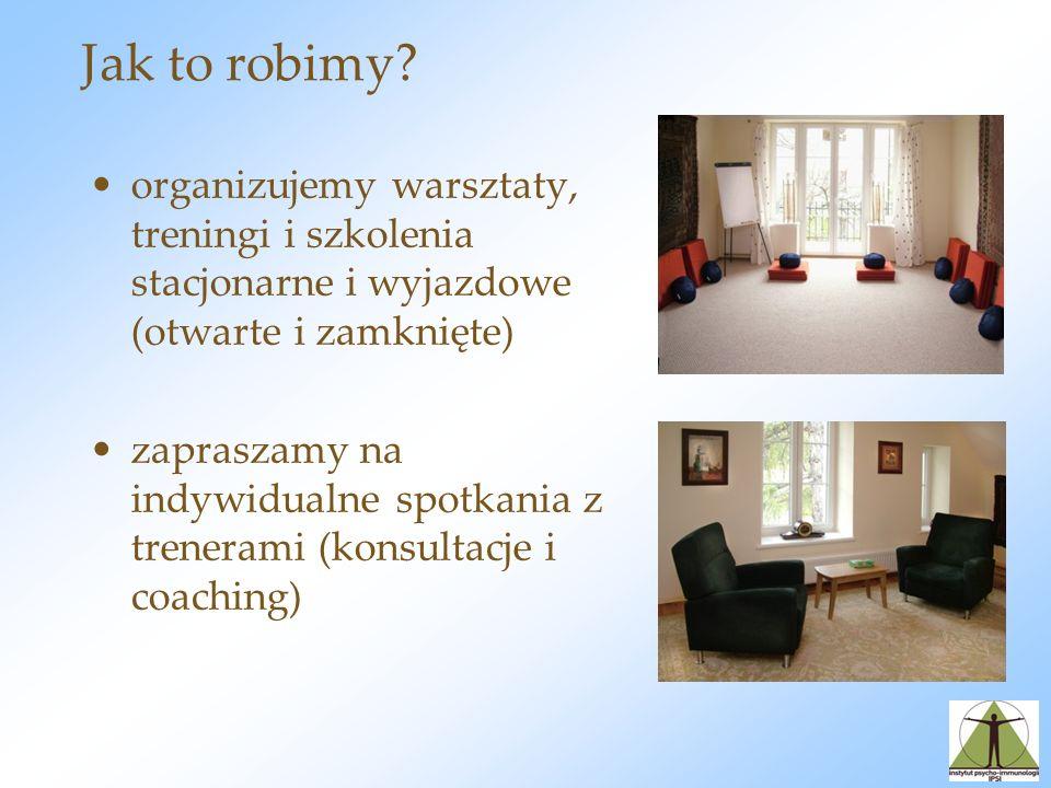 Jak to robimy organizujemy warsztaty, treningi i szkolenia stacjonarne i wyjazdowe (otwarte i zamknięte)