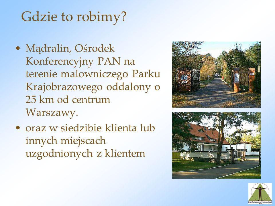Gdzie to robimy Mądralin, Ośrodek Konferencyjny PAN na terenie malowniczego Parku Krajobrazowego oddalony o 25 km od centrum Warszawy.