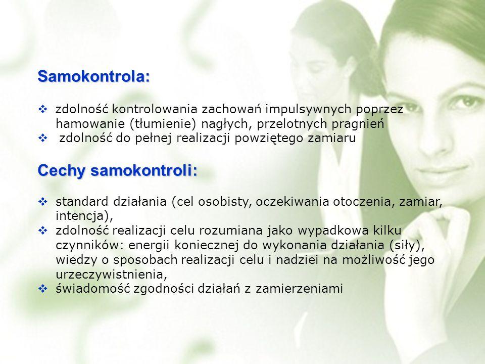 Samokontrola: Cechy samokontroli: