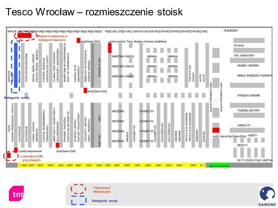 Tesco Wrocław – rozmieszczenie stoisk