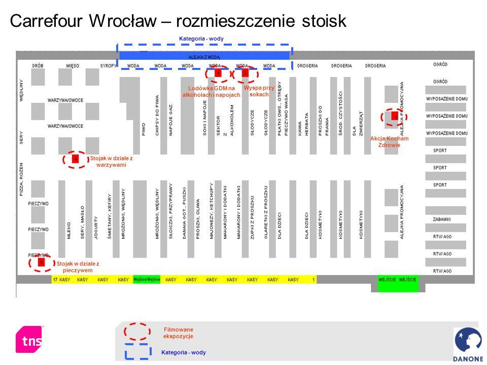 Carrefour Wrocław – rozmieszczenie stoisk