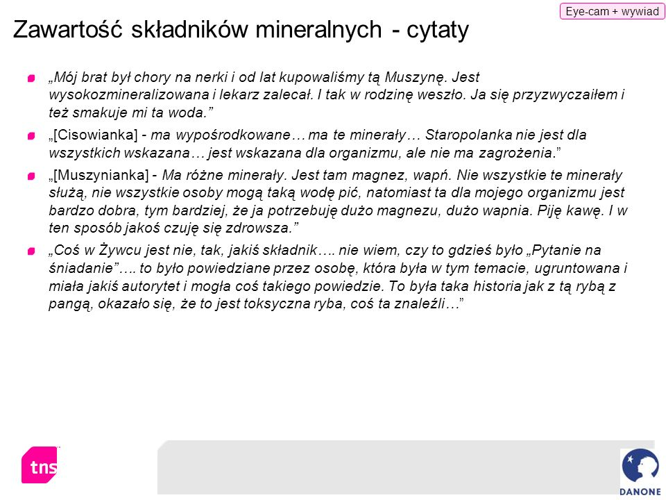 Zawartość składników mineralnych - cytaty