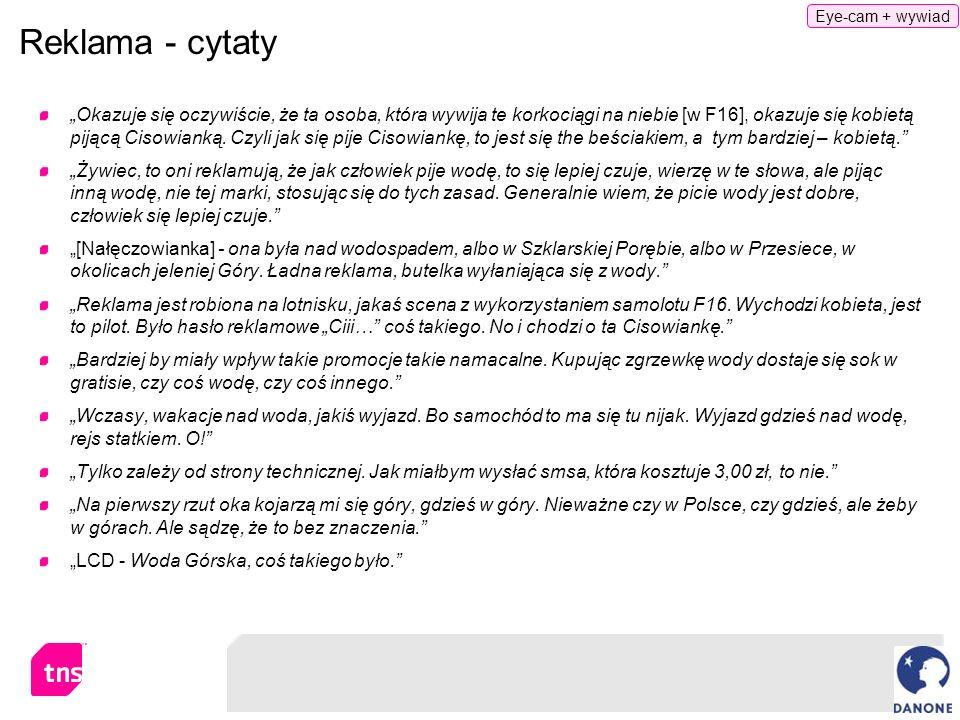 Eye-cam + wywiad Reklama - cytaty.