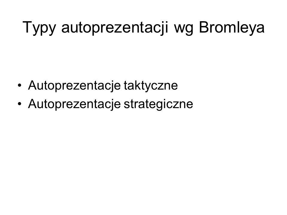 Typy autoprezentacji wg Bromleya