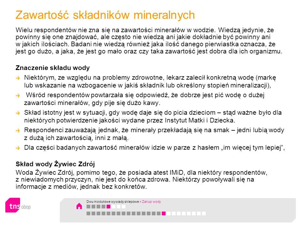 Zawartość składników mineralnych