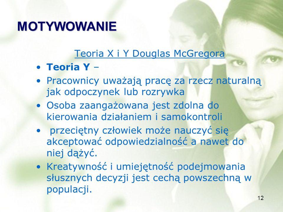 Teoria X i Y Douglas McGregora