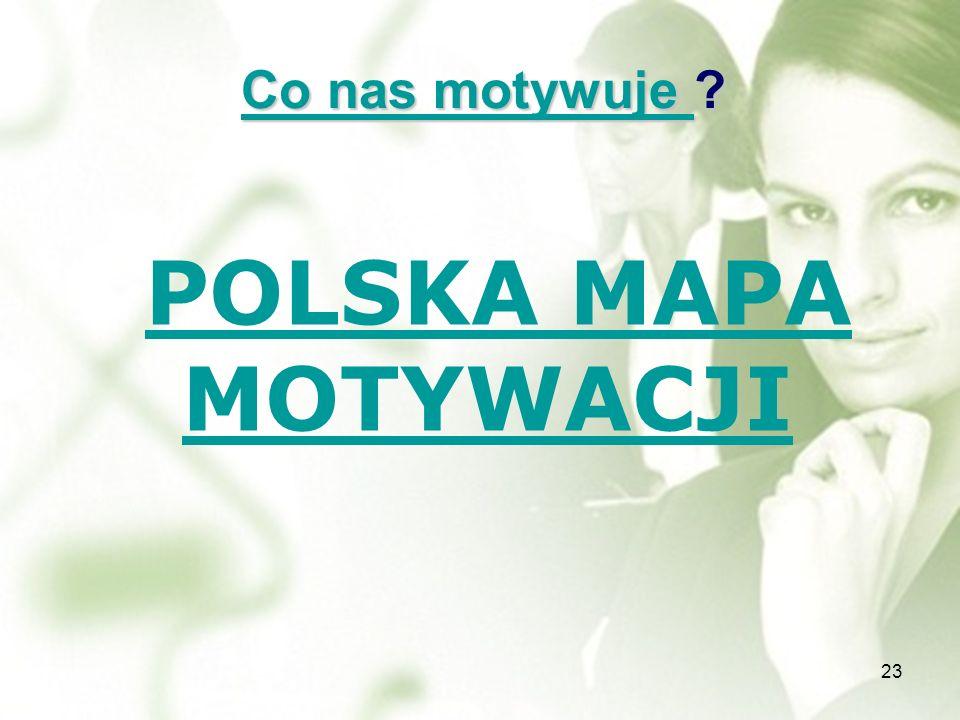 Co nas motywuje POLSKA MAPA MOTYWACJI