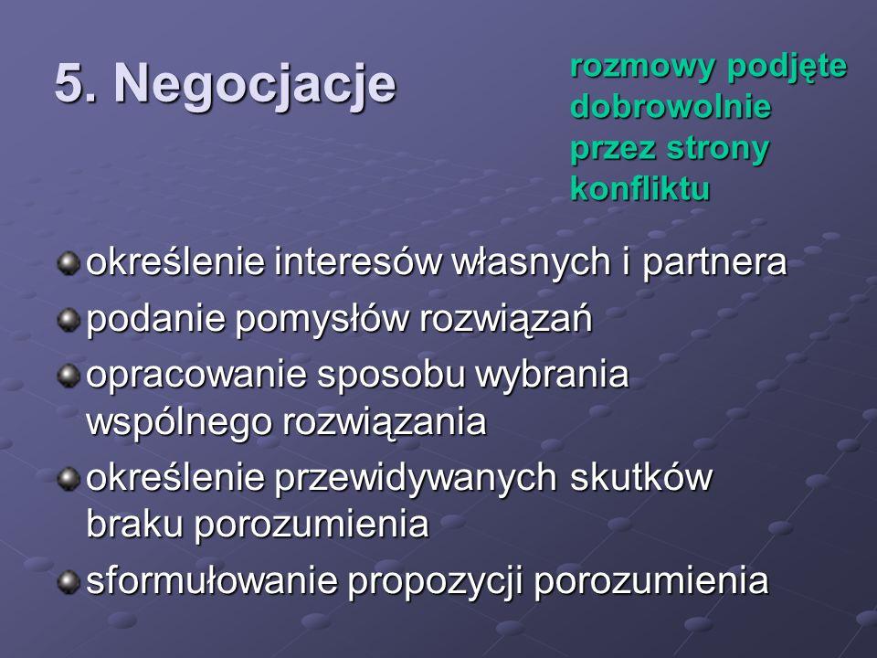 5. Negocjacje określenie interesów własnych i partnera