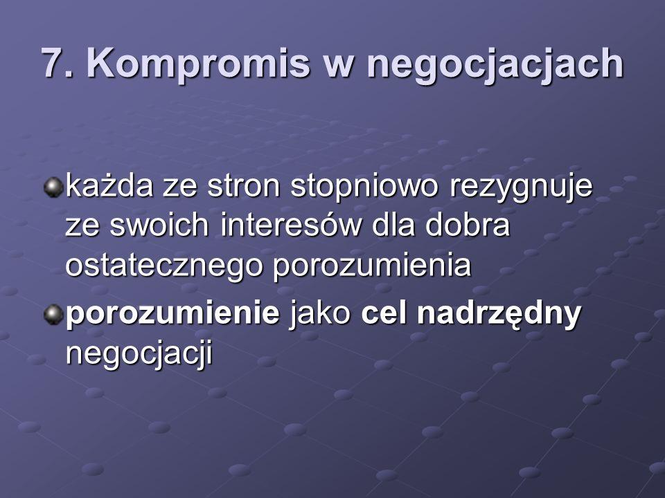 7. Kompromis w negocjacjach