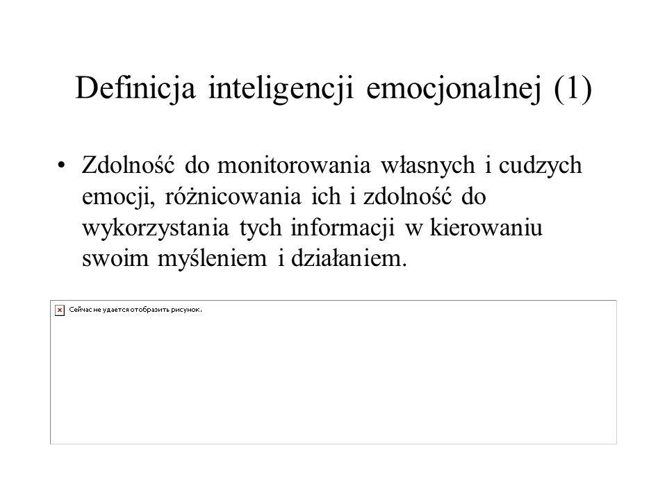 Definicja inteligencji emocjonalnej (1)