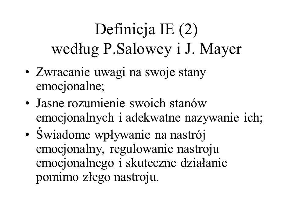 Definicja IE (2) według P.Salowey i J. Mayer
