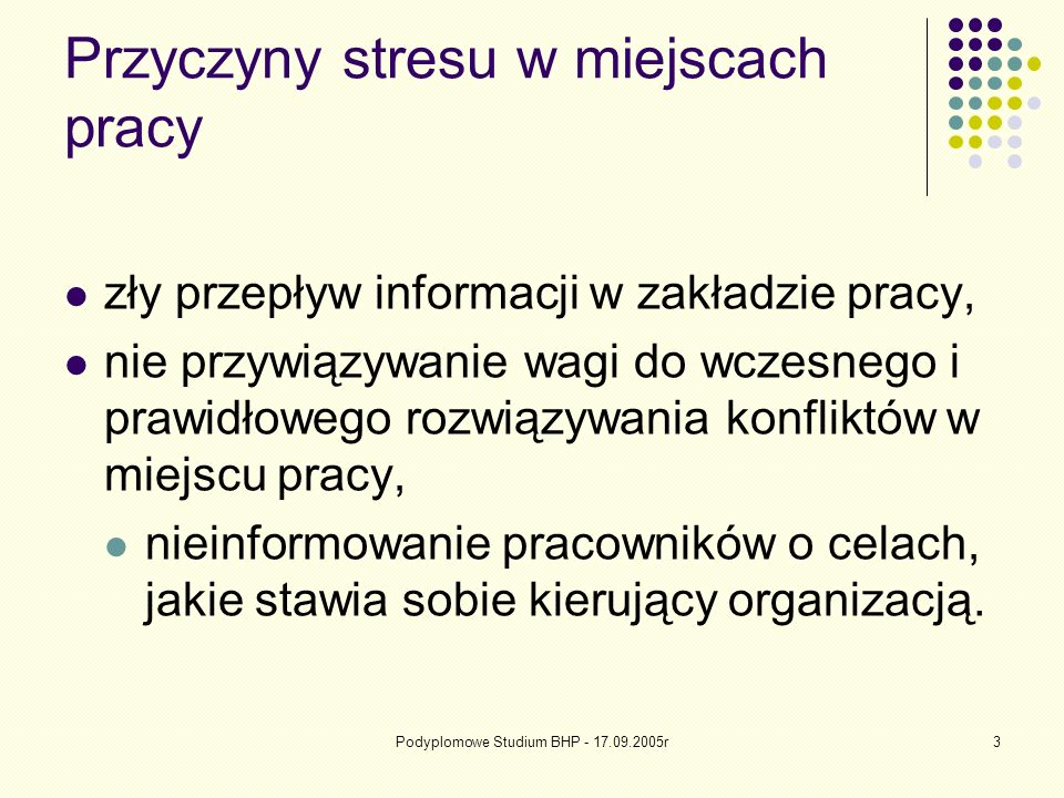Przyczyny stresu w miejscach pracy