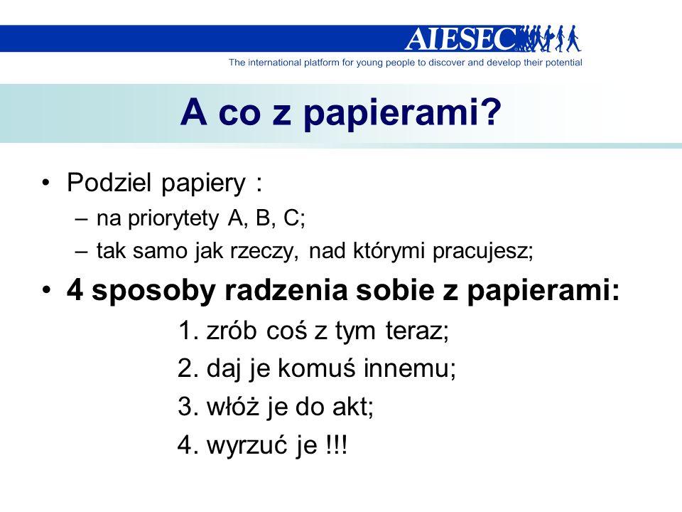 A co z papierami 4 sposoby radzenia sobie z papierami: