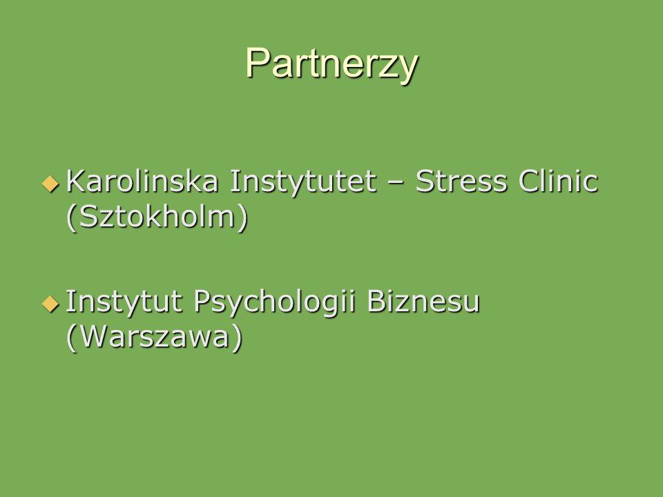 Partnerzy Karolinska Instytutet – Stress Clinic (Sztokholm)