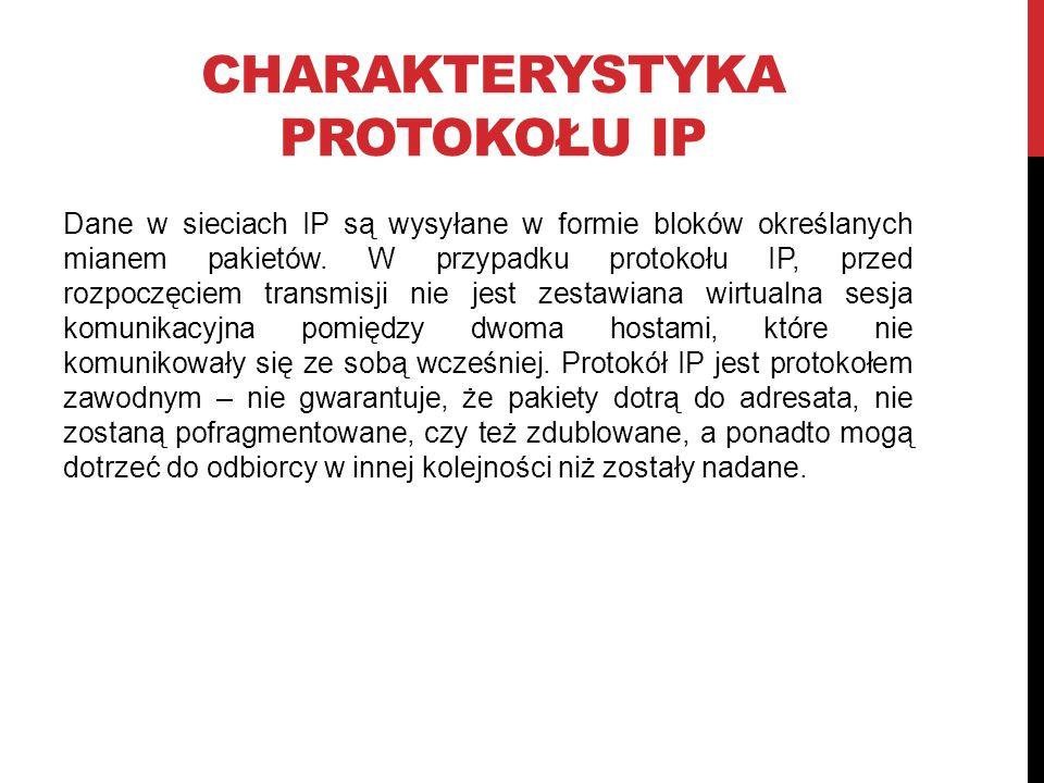 Charakterystyka protokołu IP