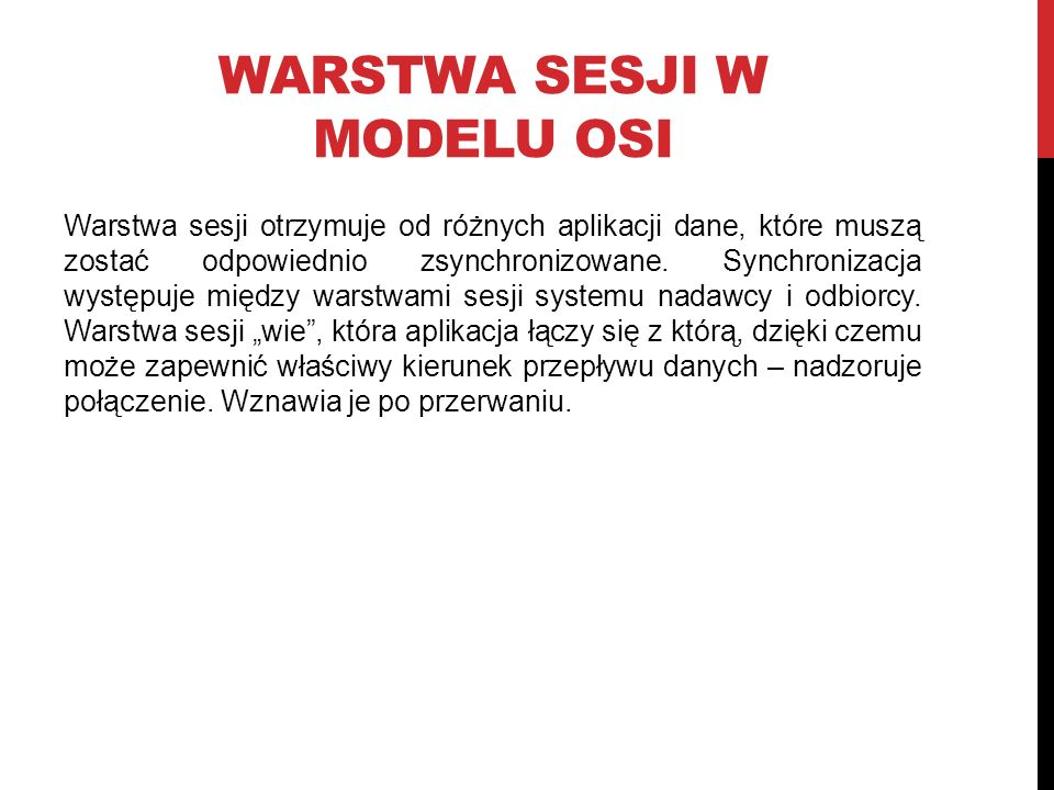 Warstwa Sesji w modelu OSI