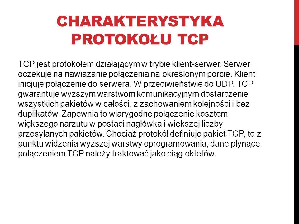 Charakterystyka protokołu TCP