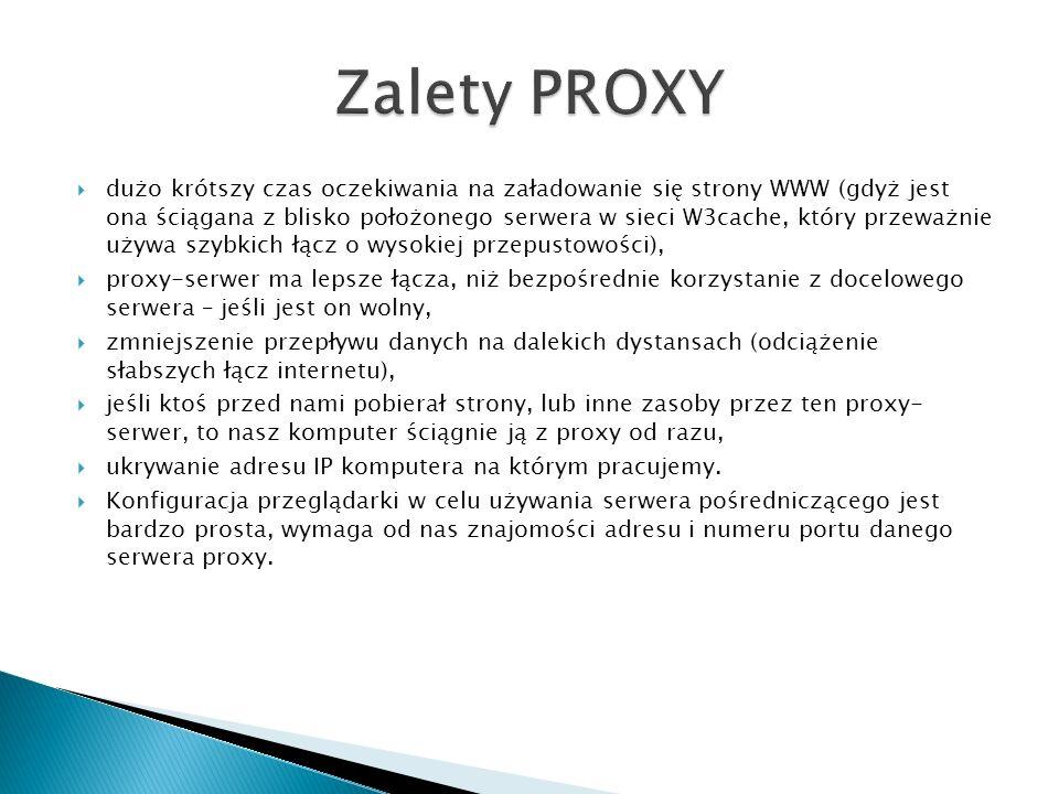 Zalety PROXY