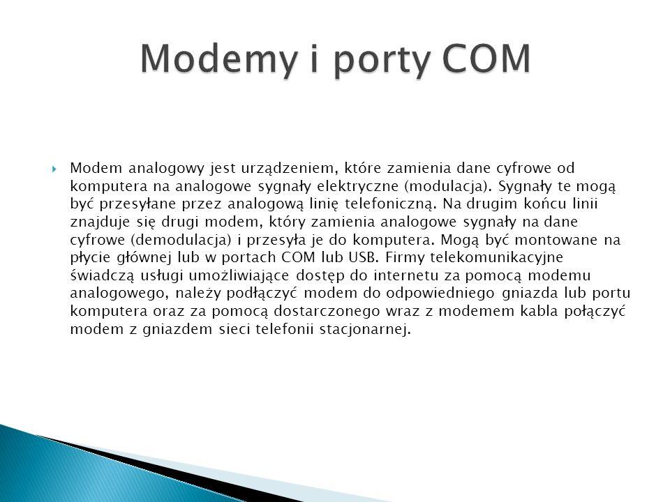 Modemy i porty COM