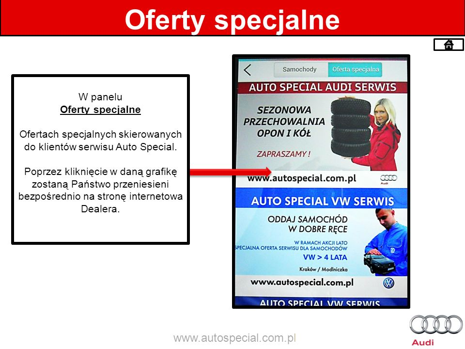 Ofertach specjalnych skierowanych do klientów serwisu Auto Special.