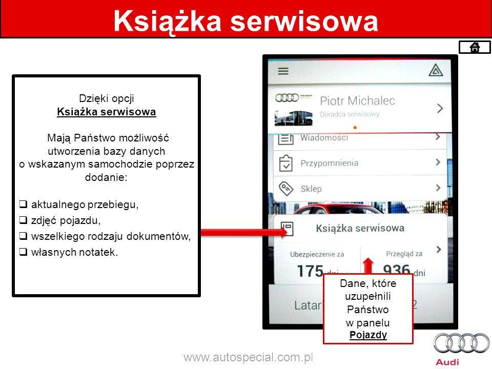 Książka serwisowa www.autospecial.com.pl Dzięki opcji