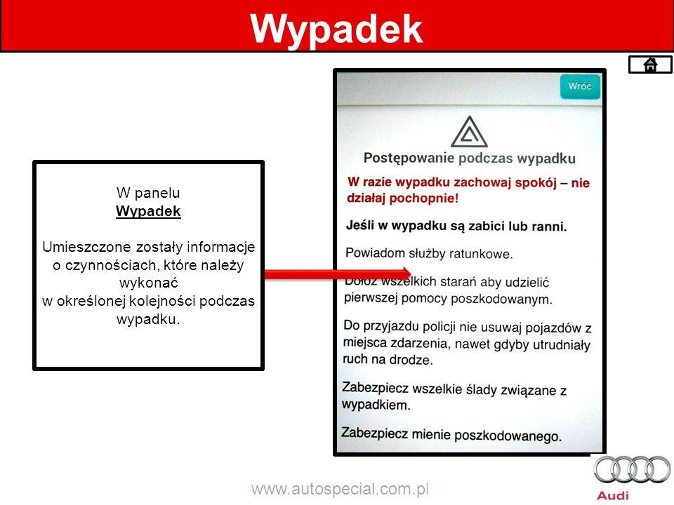 Wypadek www.autospecial.com.pl W panelu Wypadek