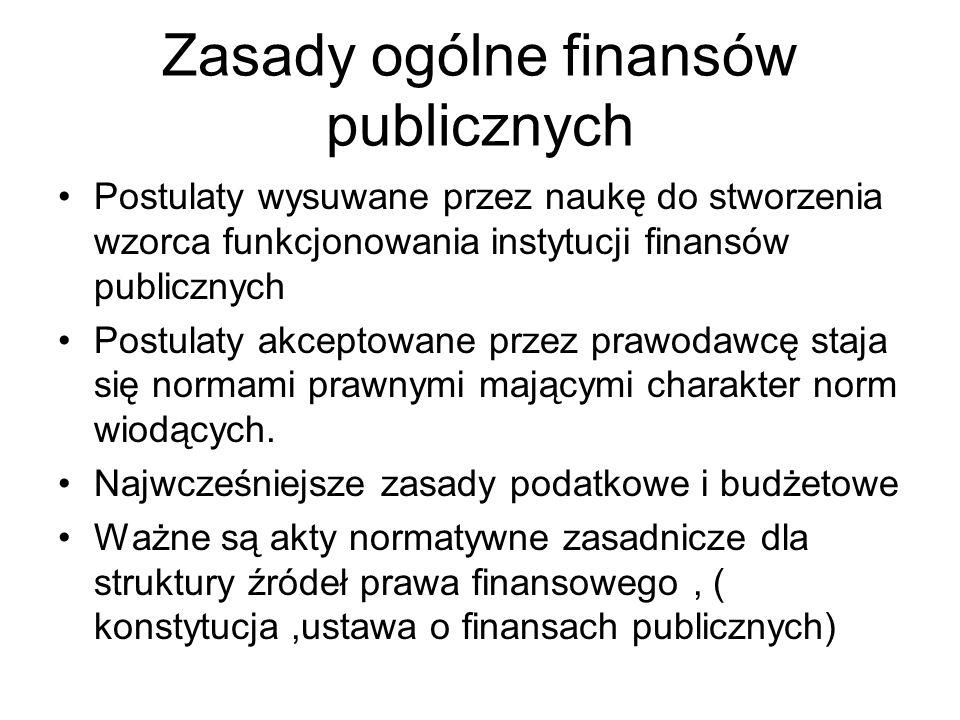 Zasady ogólne finansów publicznych