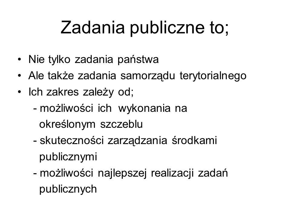 Zadania publiczne to; Nie tylko zadania państwa