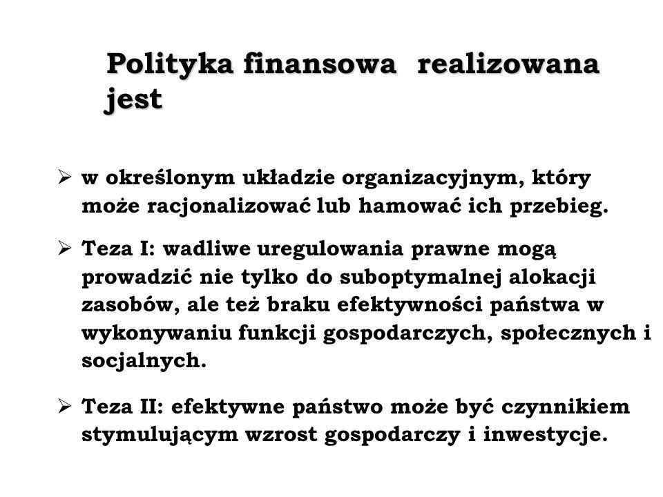 Polityka finansowa realizowana jest