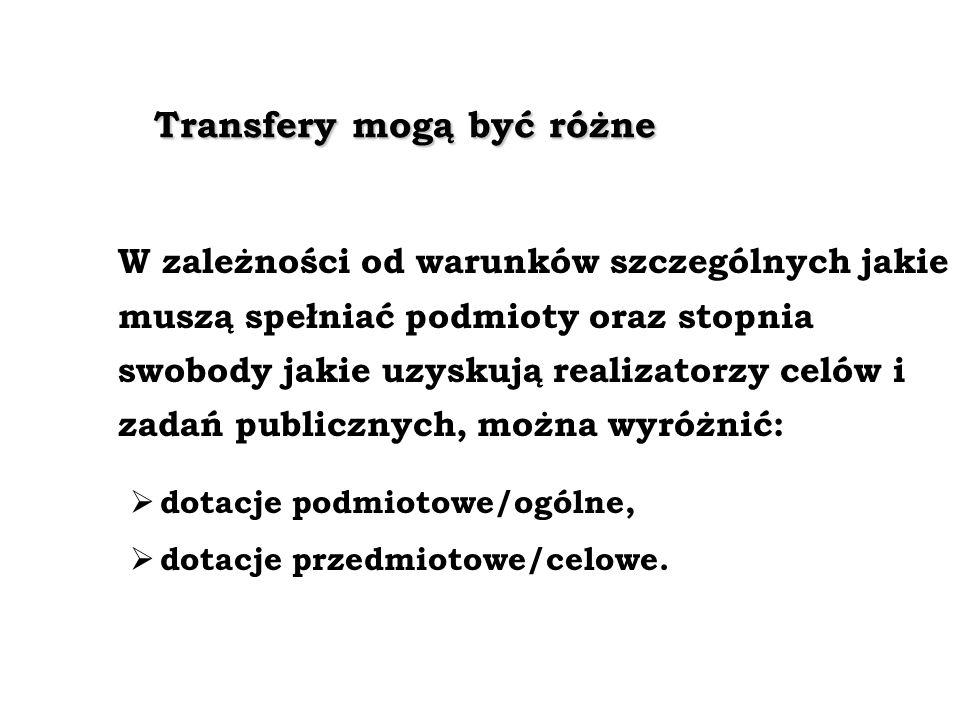 Transfery mogą być różne