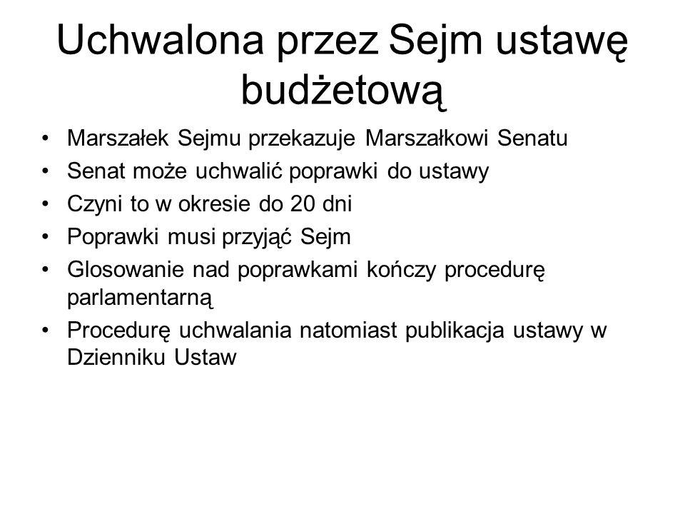 Uchwalona przez Sejm ustawę budżetową