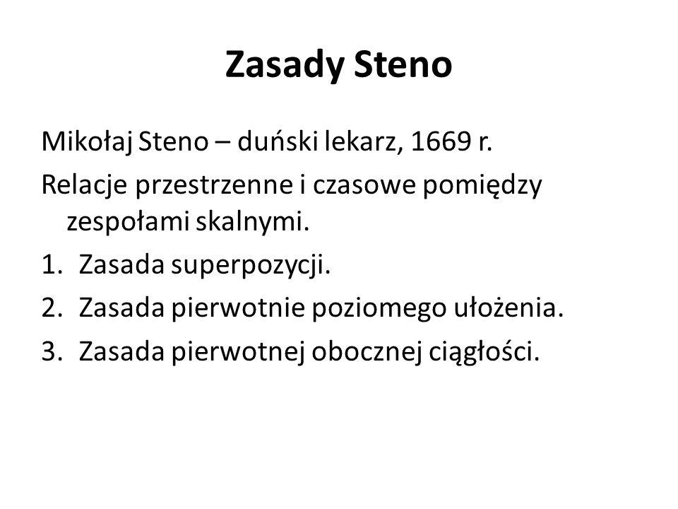 Zasady Steno Mikołaj Steno – duński lekarz, 1669 r.