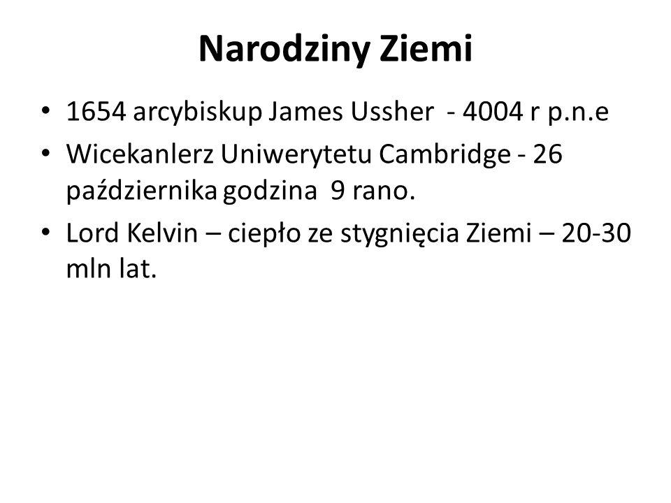 Narodziny Ziemi 1654 arcybiskup James Ussher - 4004 r p.n.e