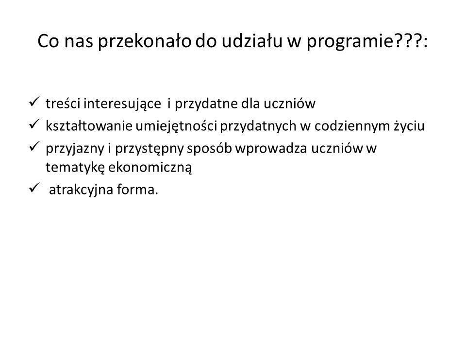 Co nas przekonało do udziału w programie :