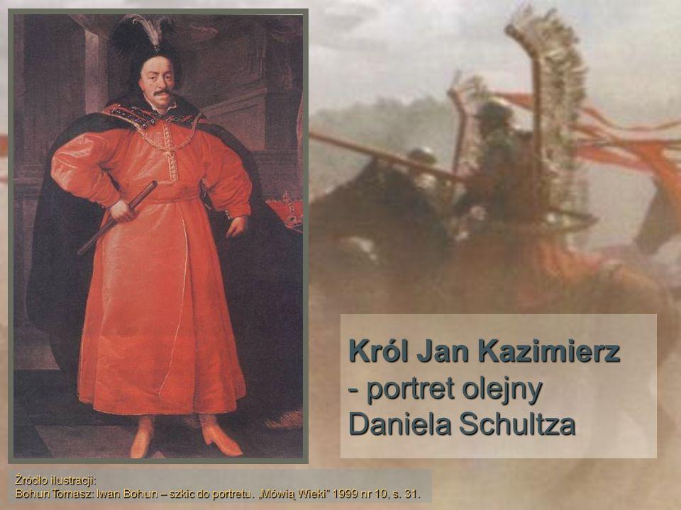 Król Jan Kazimierz - portret olejny Daniela Schultza