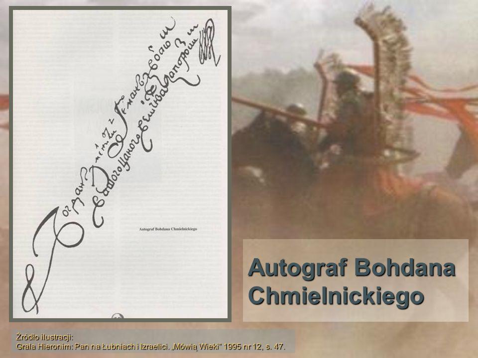 Autograf Bohdana Chmielnickiego