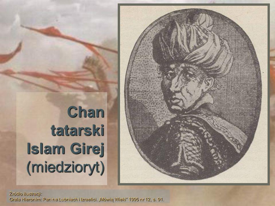 Chan tatarski Islam Girej (miedzioryt)