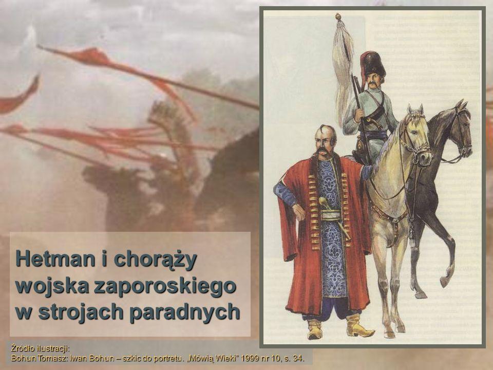 Hetman i chorąży wojska zaporoskiego w strojach paradnych