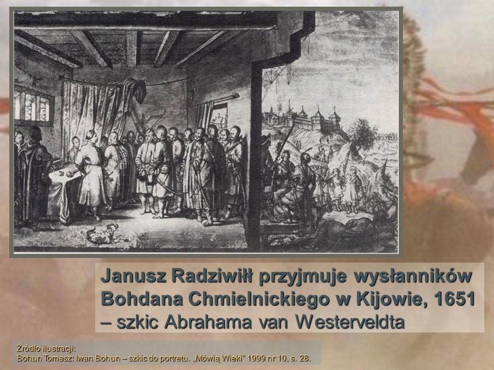 Janusz Radziwiłł przyjmuje wysłanników Bohdana Chmielnickiego w Kijowie, 1651 – szkic Abrahama van Westerveldta