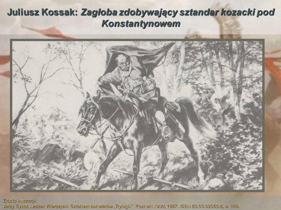 Juliusz Kossak: Zagłoba zdobywający sztandar kozacki pod Konstantynowem