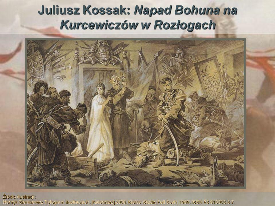 Juliusz Kossak: Napad Bohuna na Kurcewiczów w Rozłogach