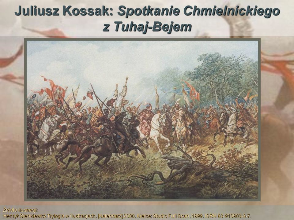 Juliusz Kossak: Spotkanie Chmielnickiego z Tuhaj-Bejem