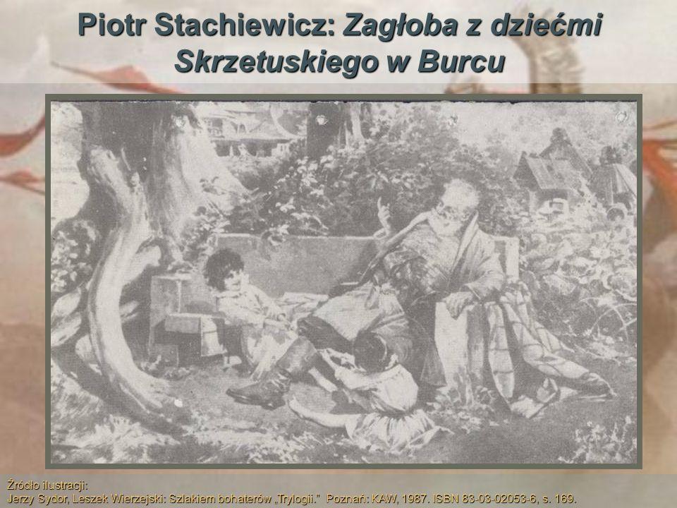 Piotr Stachiewicz: Zagłoba z dziećmi Skrzetuskiego w Burcu