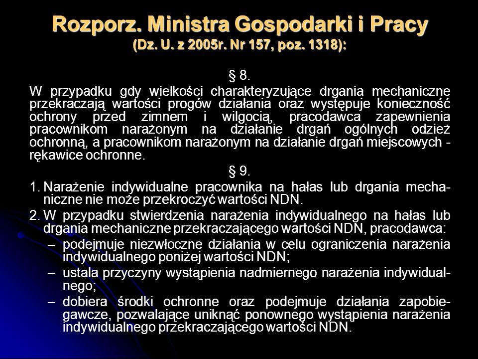 Rozporz. Ministra Gospodarki i Pracy (Dz. U. z 2005r. Nr 157, poz