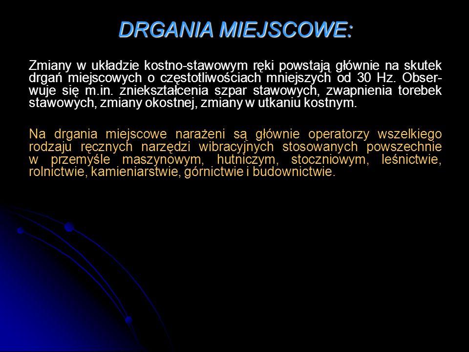 DRGANIA MIEJSCOWE: