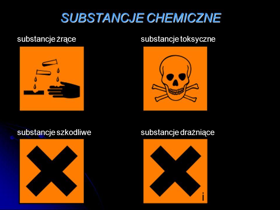 SUBSTANCJE CHEMICZNE substancje żrące substancje toksyczne