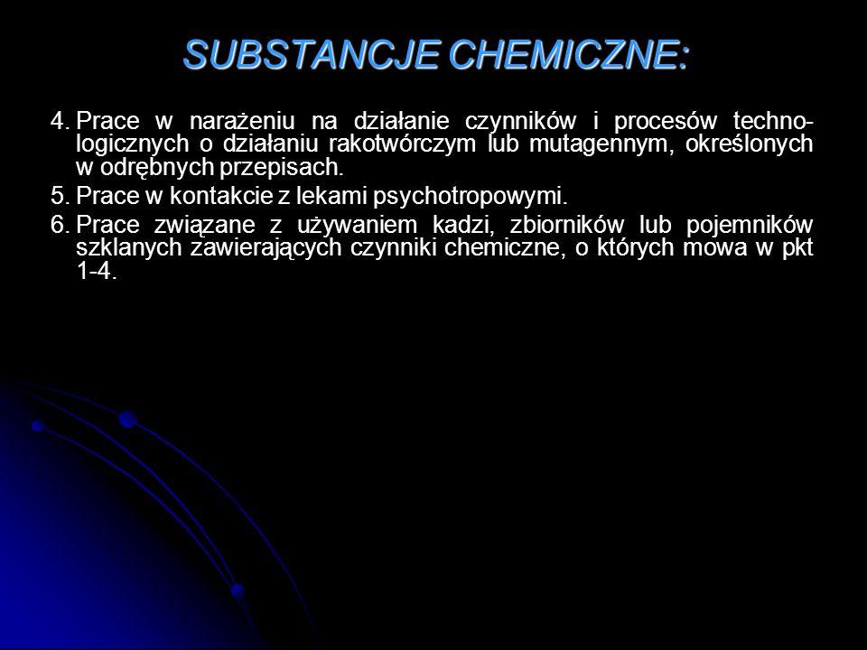 SUBSTANCJE CHEMICZNE:
