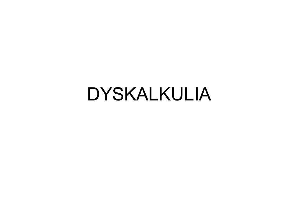 DYSKALKULIA