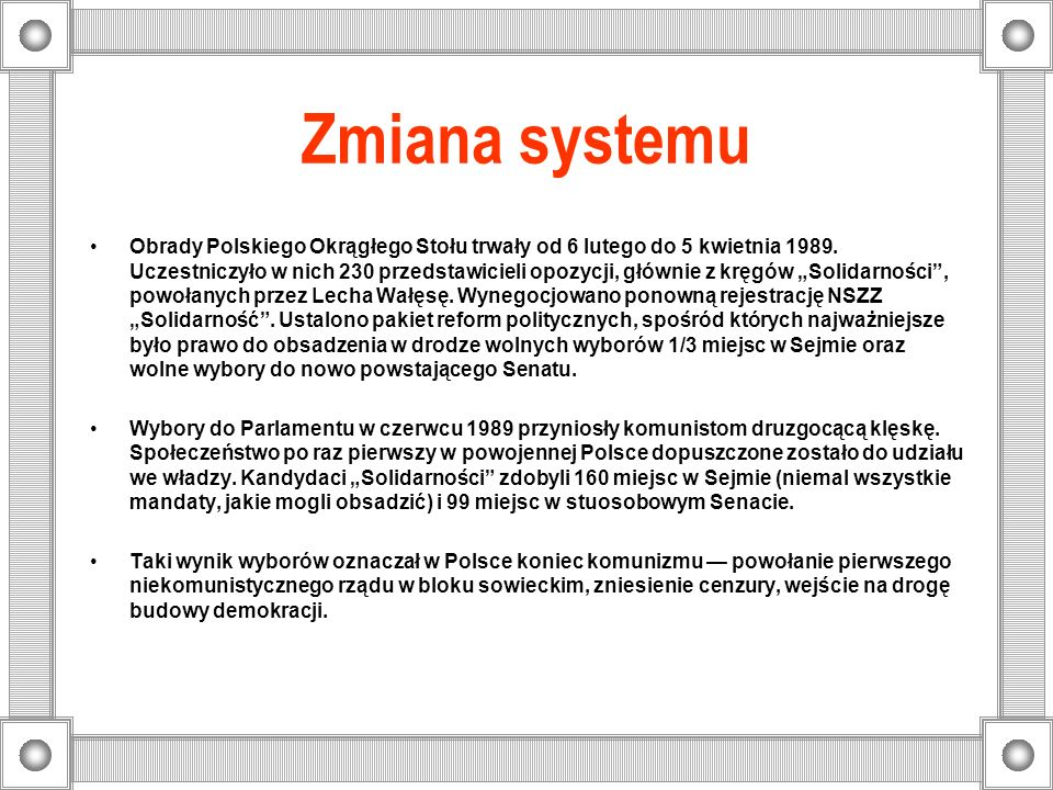 Zmiana systemu