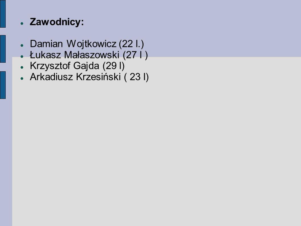 Zawodnicy: Damian Wojtkowicz (22 l.) Łukasz Małaszowski (27 l ) Krzysztof Gajda (29 l) Arkadiusz Krzesiński ( 23 l)